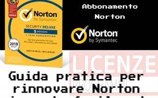 Come rinnovare la licenza Norton