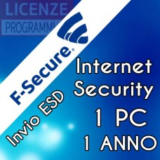 F-Secure Internet Security 2019 1 PC 1 Anno ESD