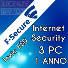 F-Secure Internet Security 2019 3 PC 1 Anno ESD