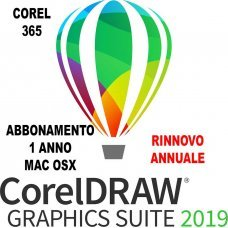 CorelDRAW Graphics Suite Rinnovo Abbonamento di 365 giorni IT per Mac
