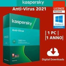 Kaspersky Anti-Virus 2021 1 Computer Windows 1 Anno ESD