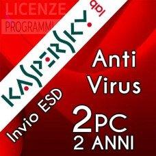 Kaspersky Anti Virus 2019 2 Computer Windows 2 Anni immagine