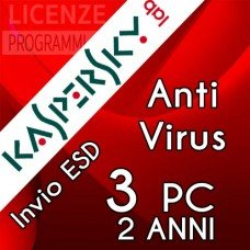 Kaspersky Anti Virus 2019 3 Computer Windows 2 Anni