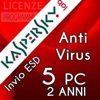 Kaspersky Anti Virus 2019 5 Computer Windows 2 Anni