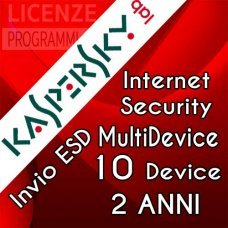 Kaspersky Internet Security 2019 10 Computer Windows o Mac 2 Anni