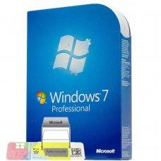 Windows 7 Professional 32-64 BIT Adesivo OEM Attivazione online immagine