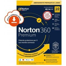 Norton 360 Premium 2020 10 PC Dispositivi 1 Anno iOs Mac Windows VPN ESD (non richiede carta di credito)