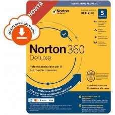 Norton 360 DeLuxe 2021 5 PC Dispositivi 1 Anno iOs Mac Windows VPN ESD immagine