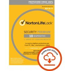 Norton security Premium 10 dispositivi (non richiede carta di credito) ESD
