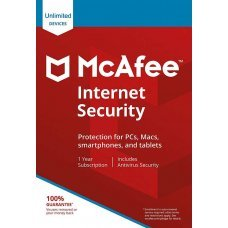 McAfee Internet Security 2019  PC Illimitati 1 Anno Licenza ESD