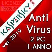 Kaspersky Anti Virus 2019 2 Computer Windows 1 Anno