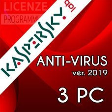 Kaspersky Anti Virus 2019 3 Computer Windows 1 Anno