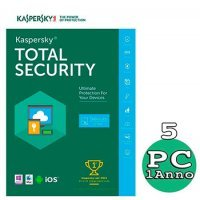 Kaspersky Total security 2018 - 5 Pc Windows o Mac - 1 Anno