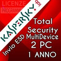 Kaspersky Total security 2019  - 2 PC Win Mac Android - 1 Anno