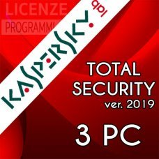 Kaspersky Total security 2019  - 3 computer Windows o Mac - 1 Anno