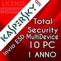 Kaspersky Total security 2019 MD - 10 PC  Windows o Mac - 1 Anno