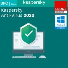 Kaspersky Anti-Virus 2020 3 PC Computer Windows 1 Anno ESD