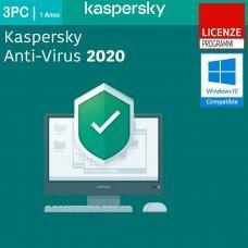 Kaspersky Anti-Virus 2020 3 PC Computer Windows 1 Anno ESD immagine