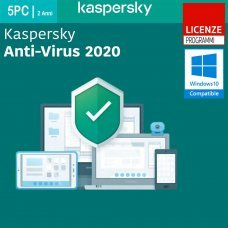 Kaspersky Anti-Virus 2020 5 PC Computer Windows 2 Anni ESD