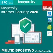 Kaspersky Internet Security 2020 5 PC MultiDevice Win Mac Android 2 Anni ESD