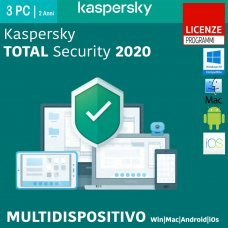 Kaspersky Total Security 2020 3 PC MultiDevice Win Mac Android 2 Anni ESD