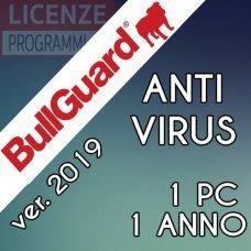 Bullguard AntiVirus 1 PC 1 Anno ultima versione ITA