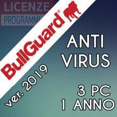Bullguard AntiVirus 3 PC 1 Anno ultima versione ITA