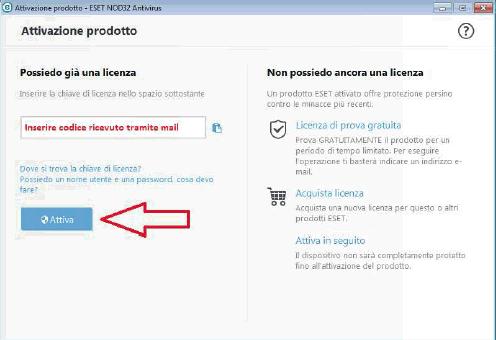 nod32 antivirus versione di prova